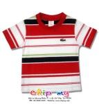 Áo thun sọc ngang đỏ trắng đen
